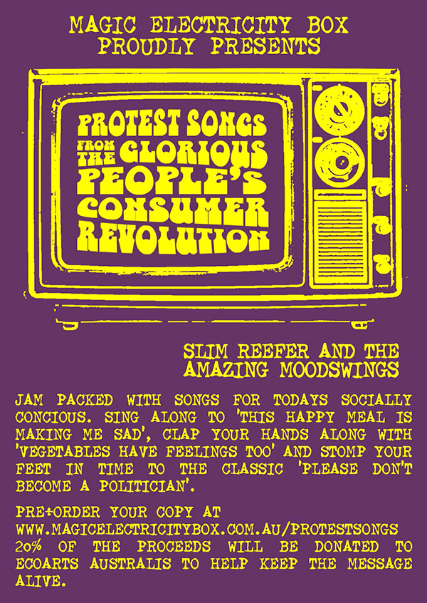 Protest songs postcard